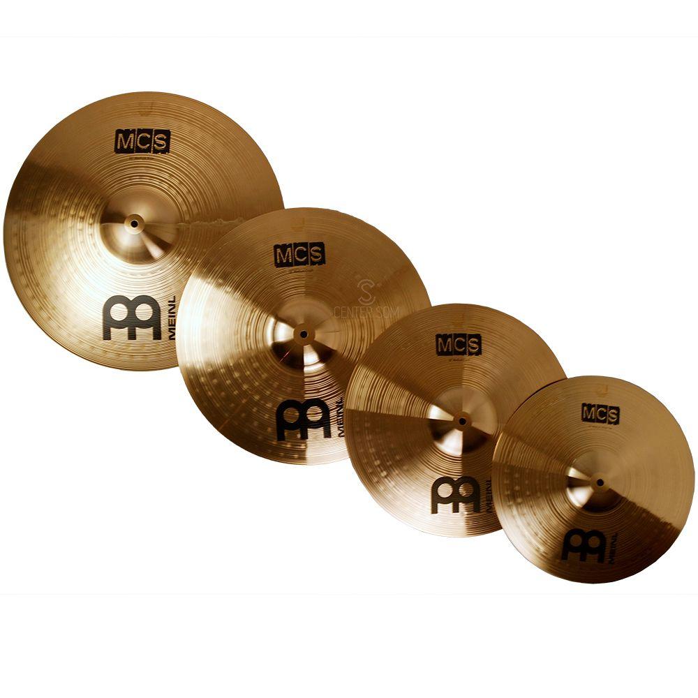 Kit pratos MEINL 5 PC Cymbal Set MCS - Hit-hat 14 Pol. - Crash 16 Pol. - Crash 18 Pol. - Ride 20 Pol.