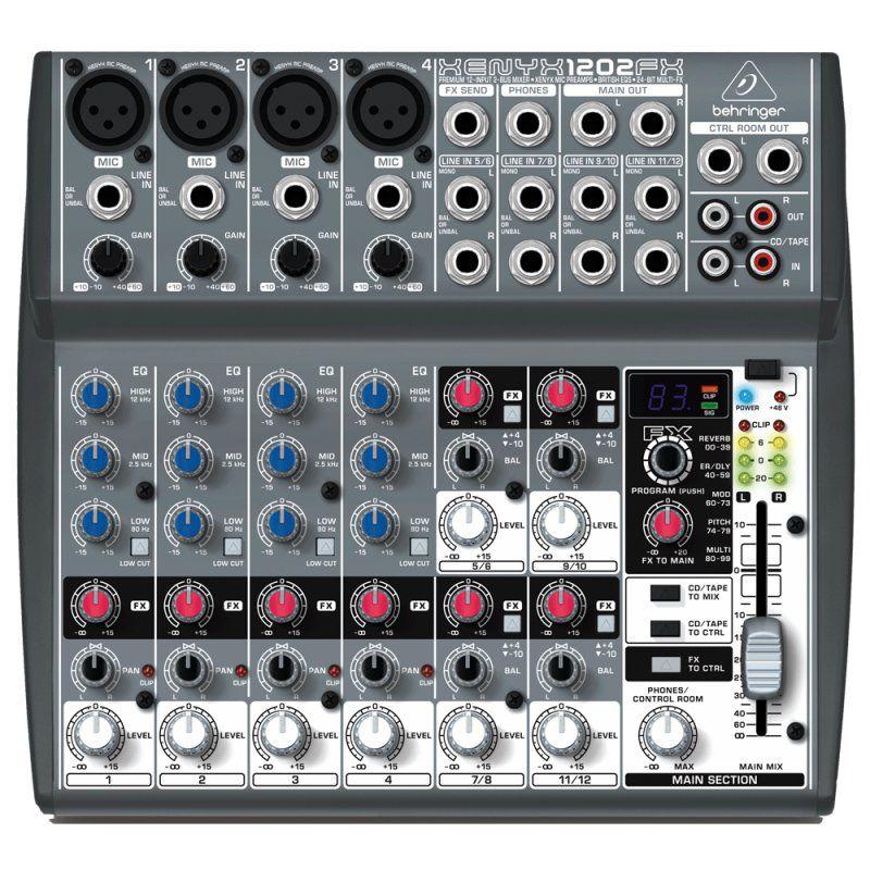 Mesa De Som 12 Canais Mixer Behringer Xenyx 1202fx C/efeitos
