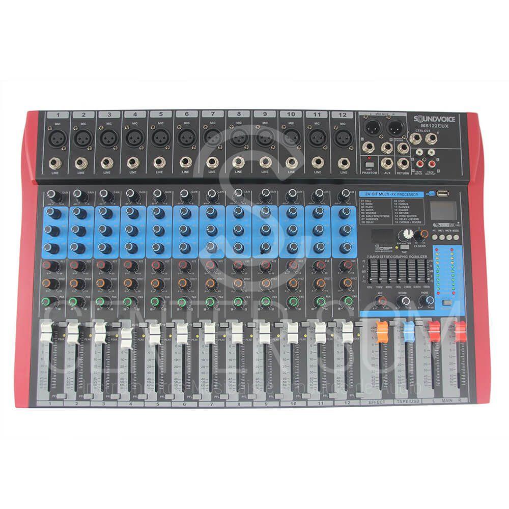 Mesa De Som 12 Canais USB Soundvoice Efeito/equalizador Ms122 Eux