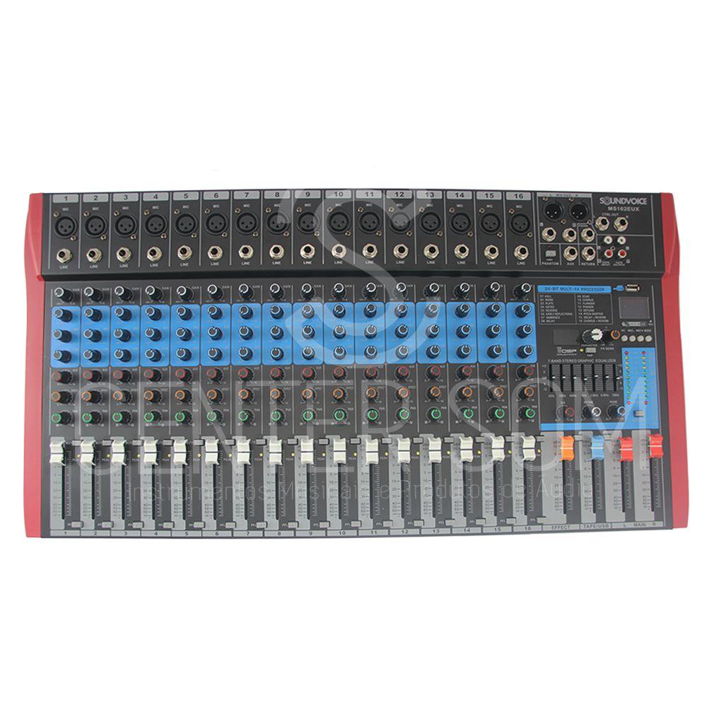 Mesa de som 16 canais Interface Soundvoice MS162 EUX BT USB