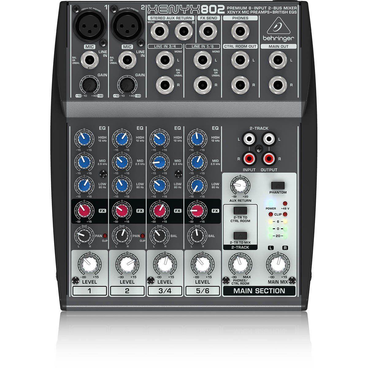 Mesa De Som Mixer Behringer 802 Xenyx 8 Canais - 110v