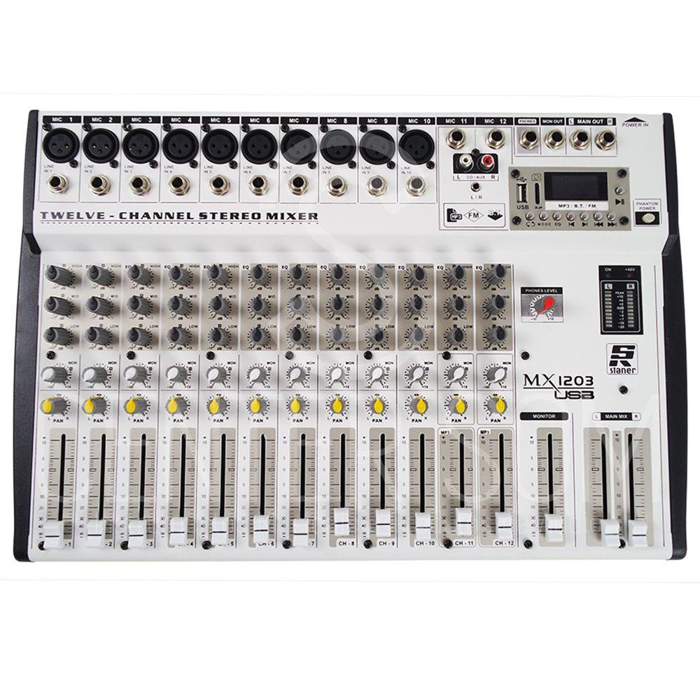 Mesa De Som Mixer Staner Mx 1203 Usb - Bluetooth, Phantom Eq