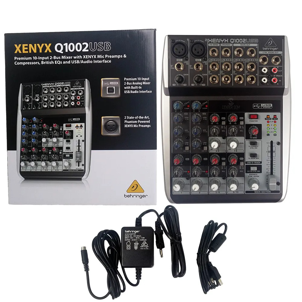 Mesa Mixer Behringer Q1002 USB Xenyx Interface 110v