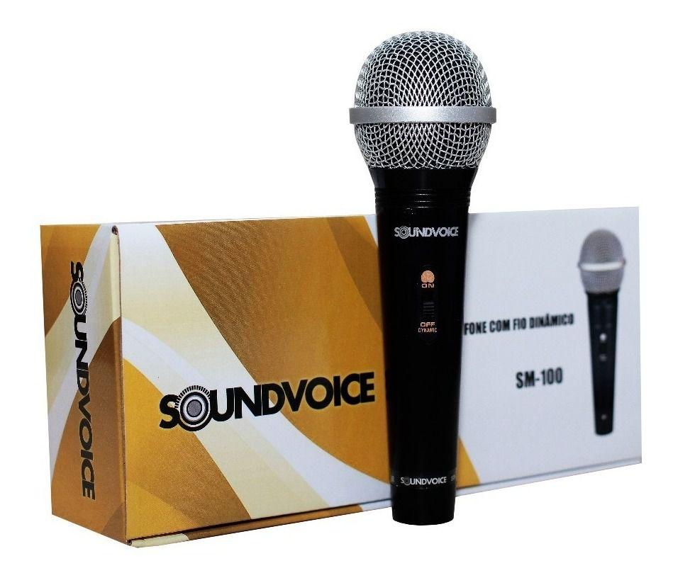 Microfone Com Fio De Mão Sm 100 - Soundvoice