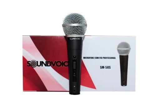 Microfone Com Fio De Mão Sm 58 S - Soundvoice
