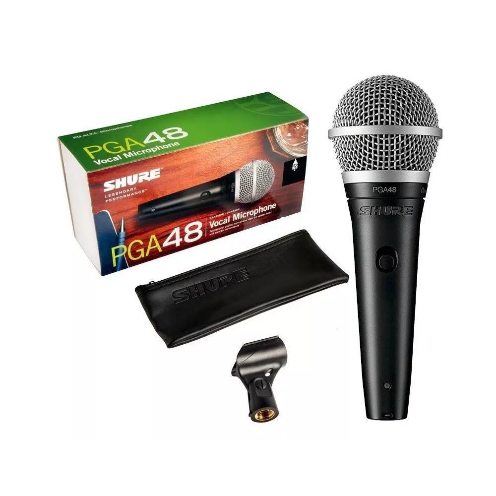 Microfone de Mão Dinâmico Cardióide - Shure PGA 48LC
