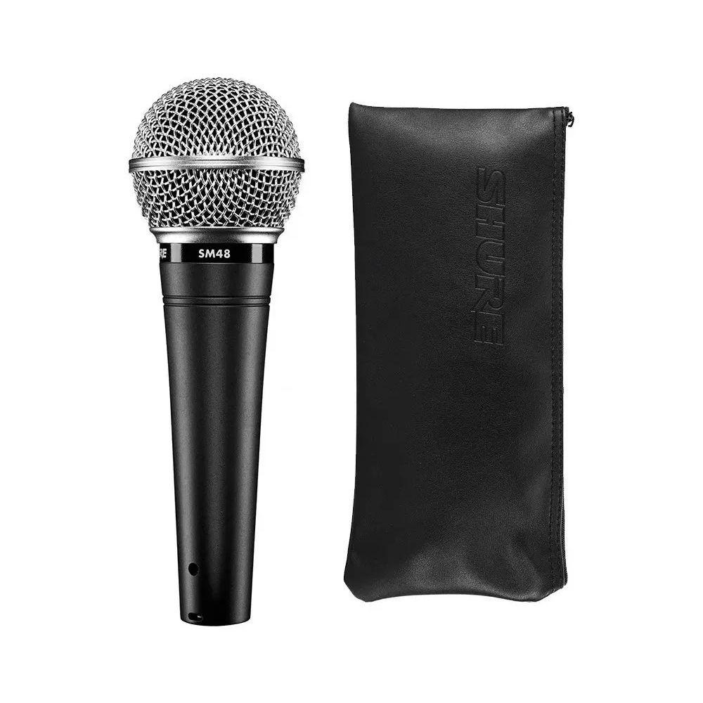 Microfone de Mão Dinâmico Cardióide - Shure SM48-LC
