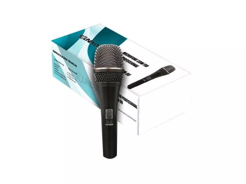 Microfone de Mão Dinâmico Com Fio Sm-90 SoundVoice