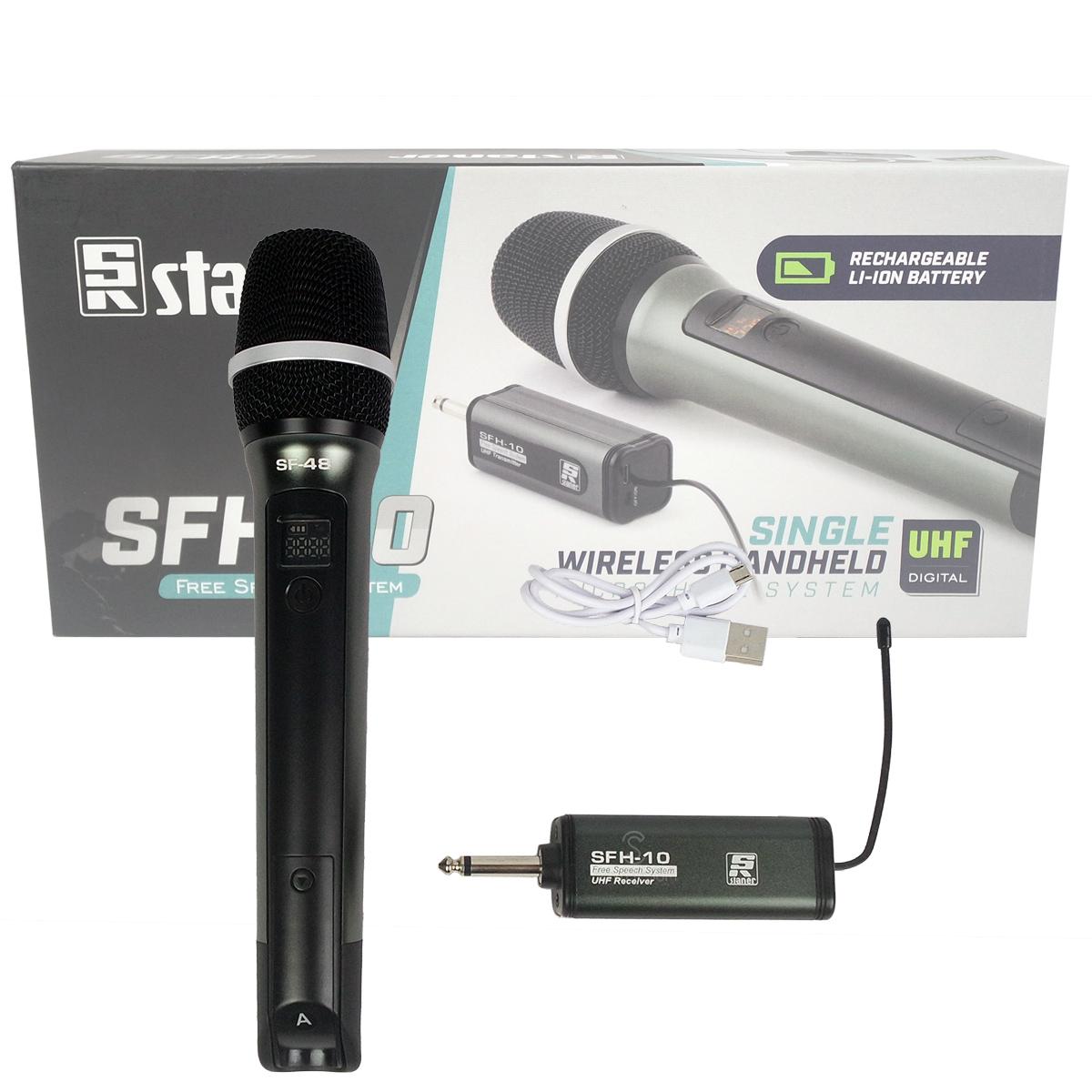 Microfone de mão Sem fio Staner SFH-10 Recarregável Simples