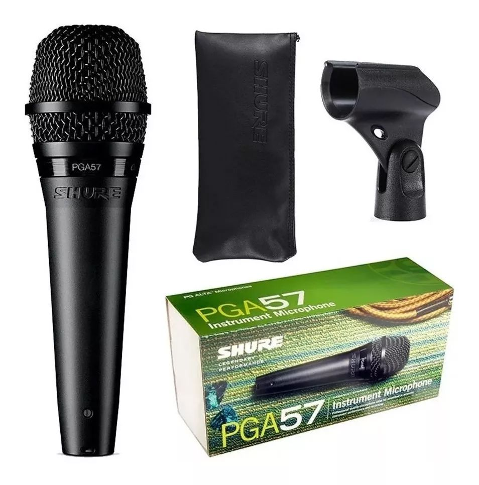 Microfone para Instrumento + Bag + Suporte - Shure PGA57-LC