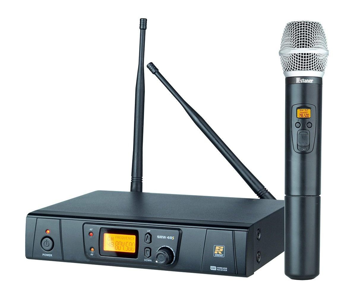 Microfone Sem Fio De Mão Uhf Digital Staner Srw48s Ht Bastão