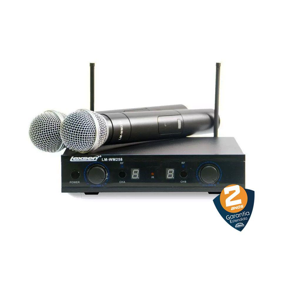 Microfone Sem Fio Duplo Uhf Lexsen Lm-wm258 Multifrequência