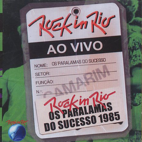 Os Paralamas Do Sucesso - Rock in Rio 1985 - Ao Vivo - CD