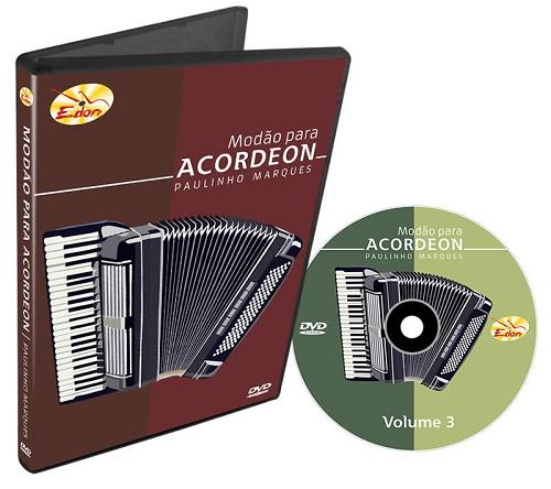 Paulinho Marques - Modão Para Acordeon - Volume 3 - DVD