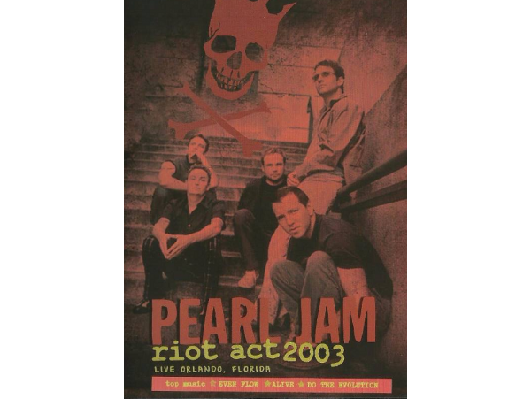 Pearl Jam - Live In Orlando - Riot Act - 2003 - DVD