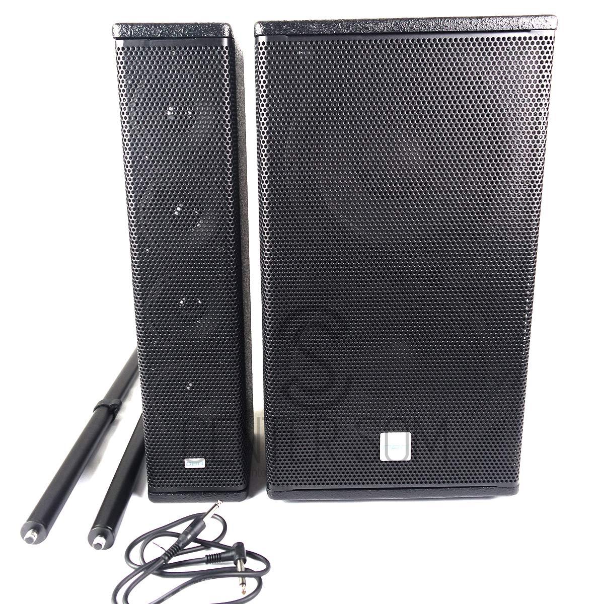 Sistema Amplificado Dbr Vertical Array Va1800 700w Rms SubWoofer