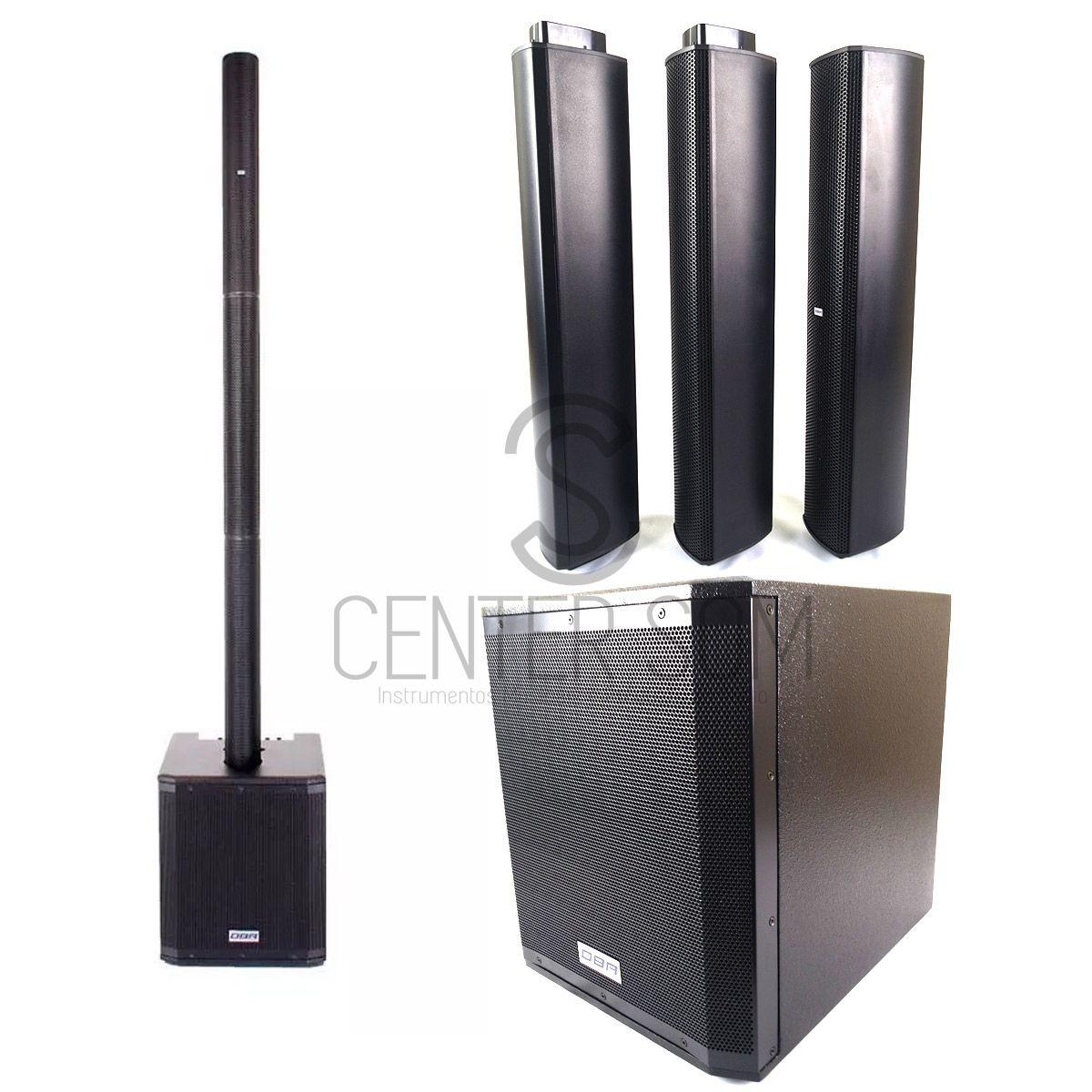 Sistema Sonoro Vertical Array Dbr Va2200 1500w Rms