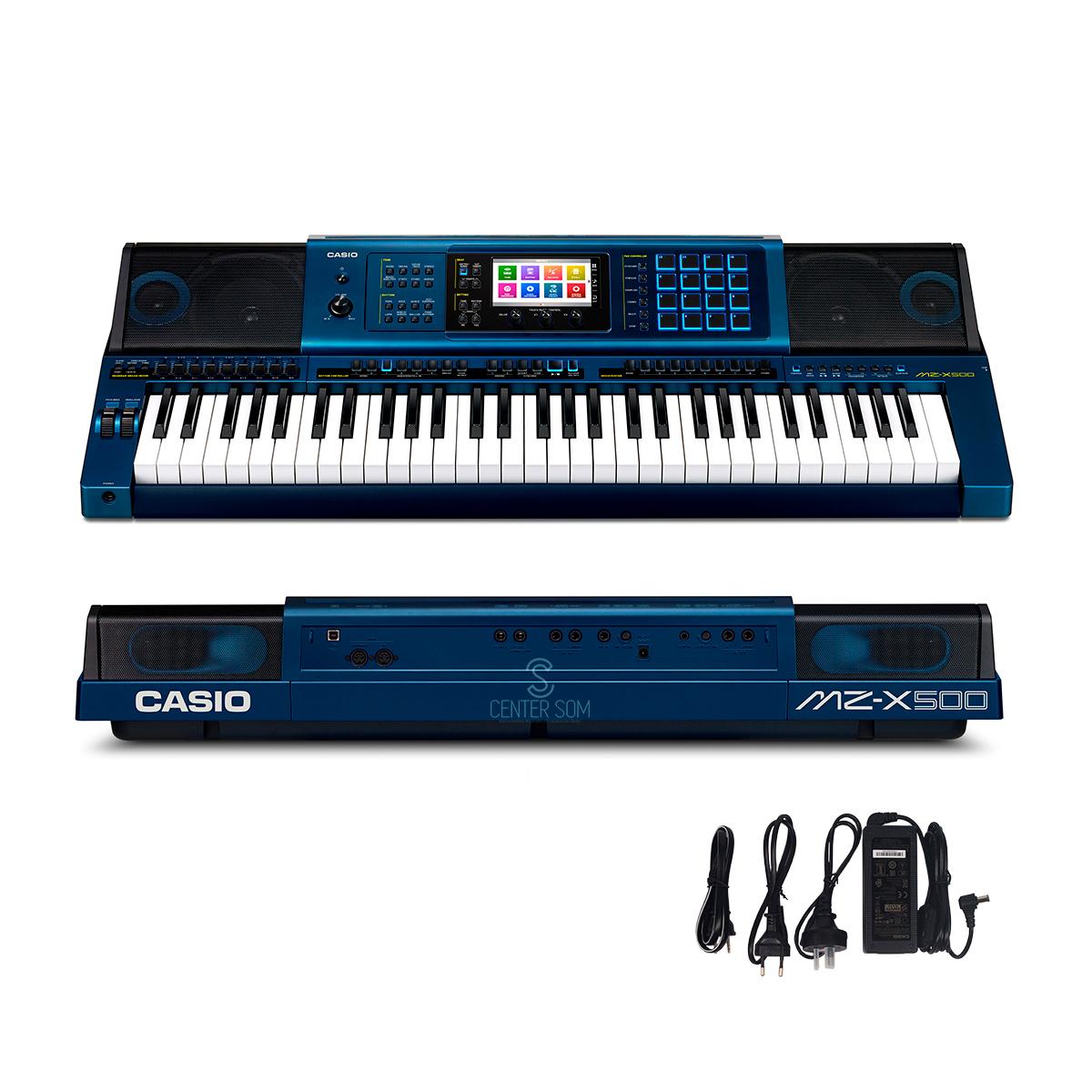 Teclado Arranjador MZ-X500 Casio 61 Teclas Sensitivas - Azul