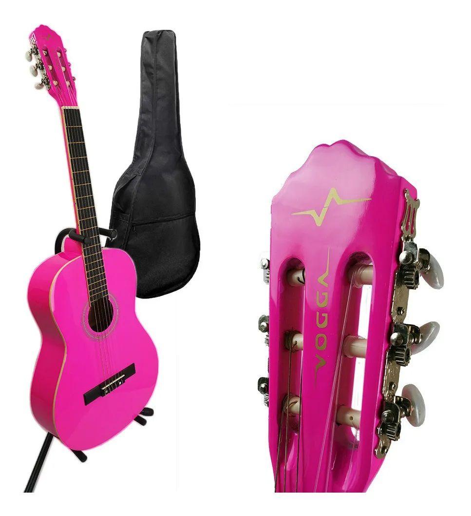 Violão Acústico Clássico Nylon Vogga Vca205n - Pink