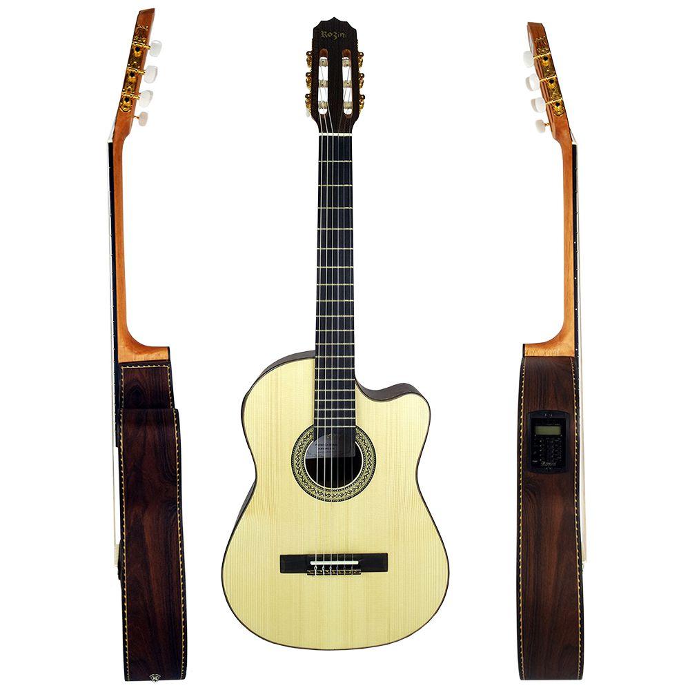 Violão Elétrico Flat Folk Rozini Presença Brasil Rx515AT