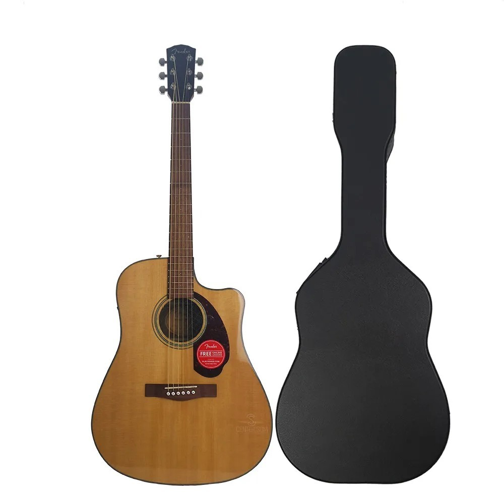 Violão Folk Fender Cd-140 Sce Natural 321 Dreadnought C/ Case