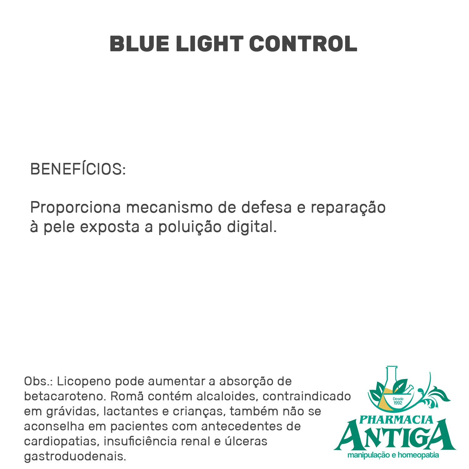 BLUE LIGHT CONTROL 60 cps