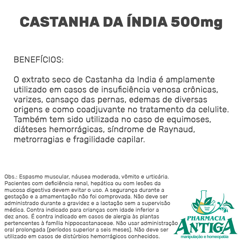 CASTANHA DA INDIA 500mg 60cps