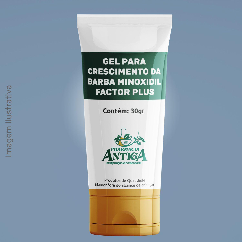 GEL PARA CRESCIMENTO DA BARBA MINOXIDIL FACTOR PLUS  30gr
