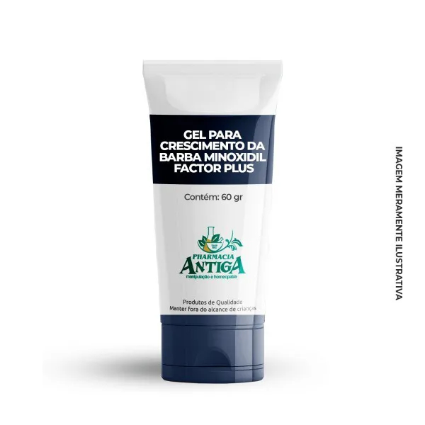 GEL PARA CRESCIMENTO DA BARBA MINOXIDIL FACTOR PLUS  60gr