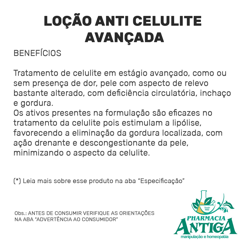 LOÇÃO ANTI CELULITE AVANÇADA 120ml