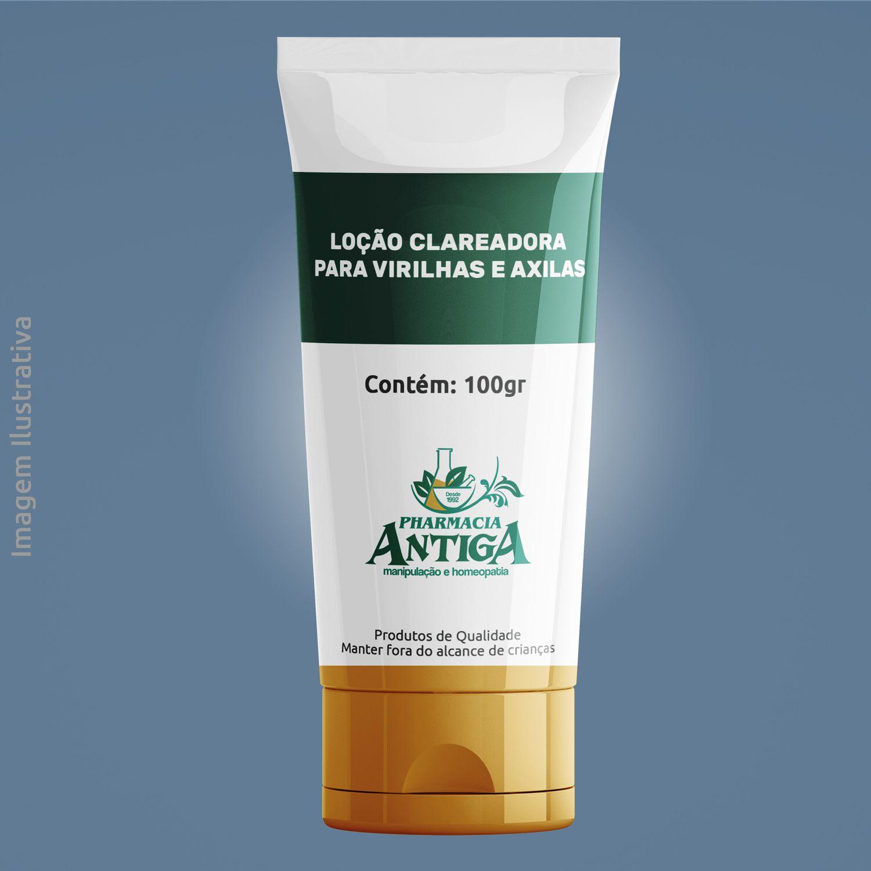 LOÇÃO CLAREADORA - PARA VIRILHAS E AXILAS - 100gr