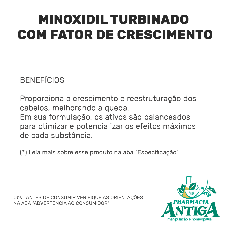 MINOXIDIL TURBINADO COM FATOR DE CRESCIMENTO 50ml