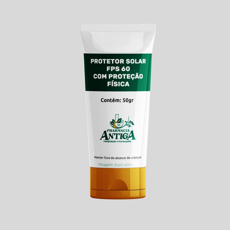 PROTETOR SOLAR FPS 60 COM PROTEÇÃO FÍSICA 50gr