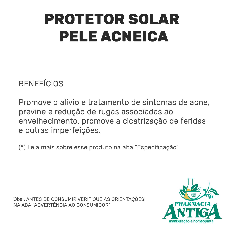 PROTETOR SOLAR PELE ACNEICA 50g