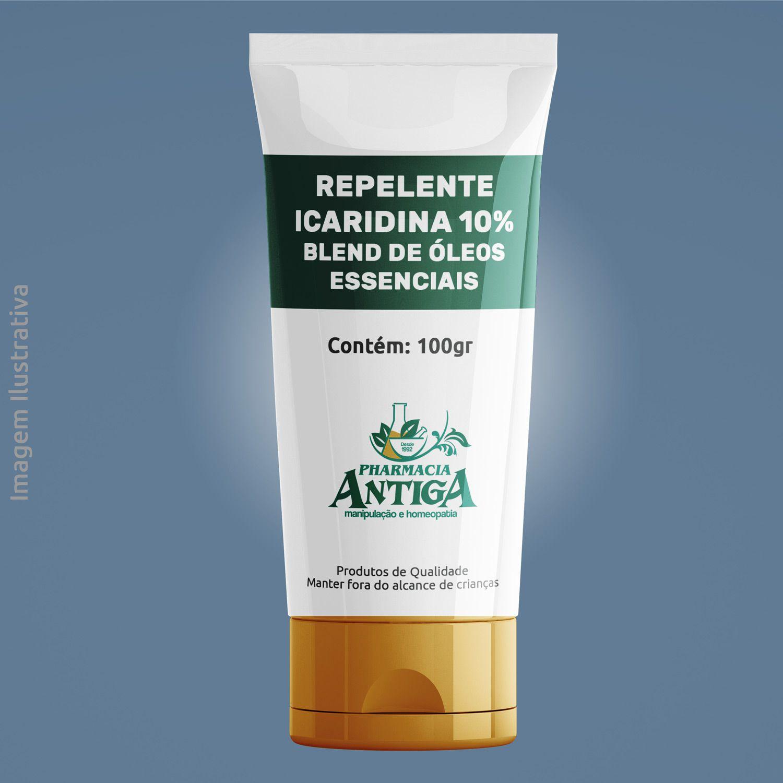 REPELENTE ICARIDINA 10% - BLEND OLEOS ESSENCIAIS - GEL 100Gr