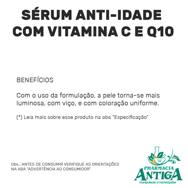 SÉRUM ANTI-IDADE COM VITAMINA C E Q10 20ml