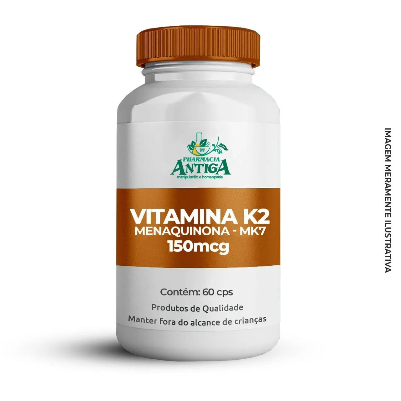Vitamina K2 - Menaquinona MK7 150 mcg 60 cps