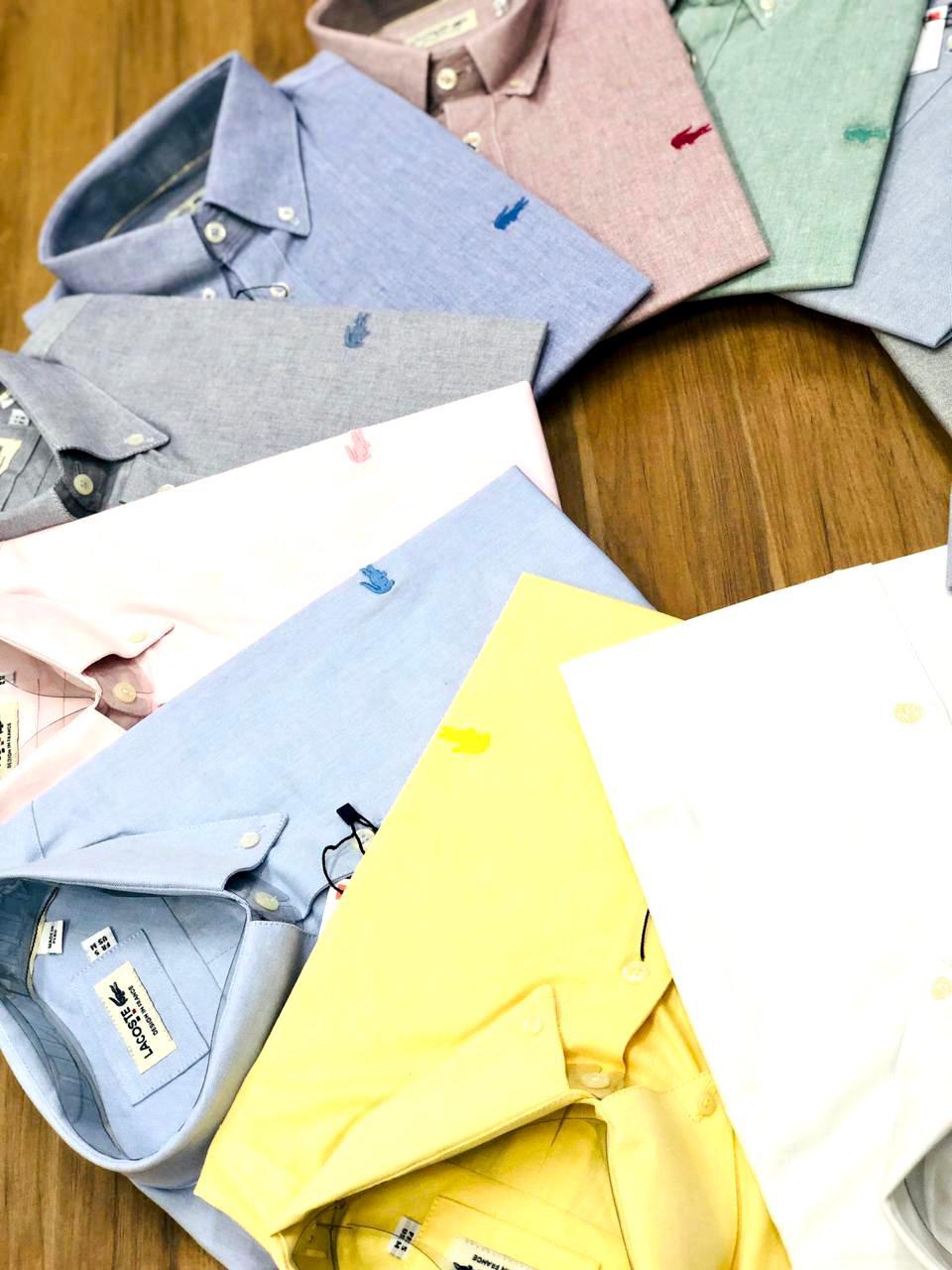 Camisa Lacoste Manga Curta (cada)