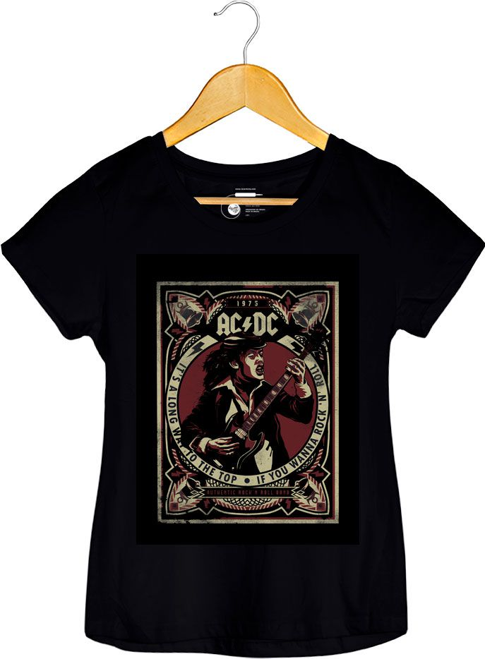 Camiseta - Its A Long Way To The Top - ACDC -  Feminino