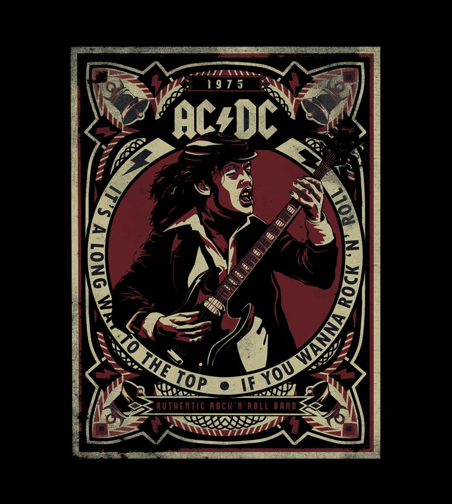 Camiseta - Its A Long Way To The Top - ACDC -  Feminino