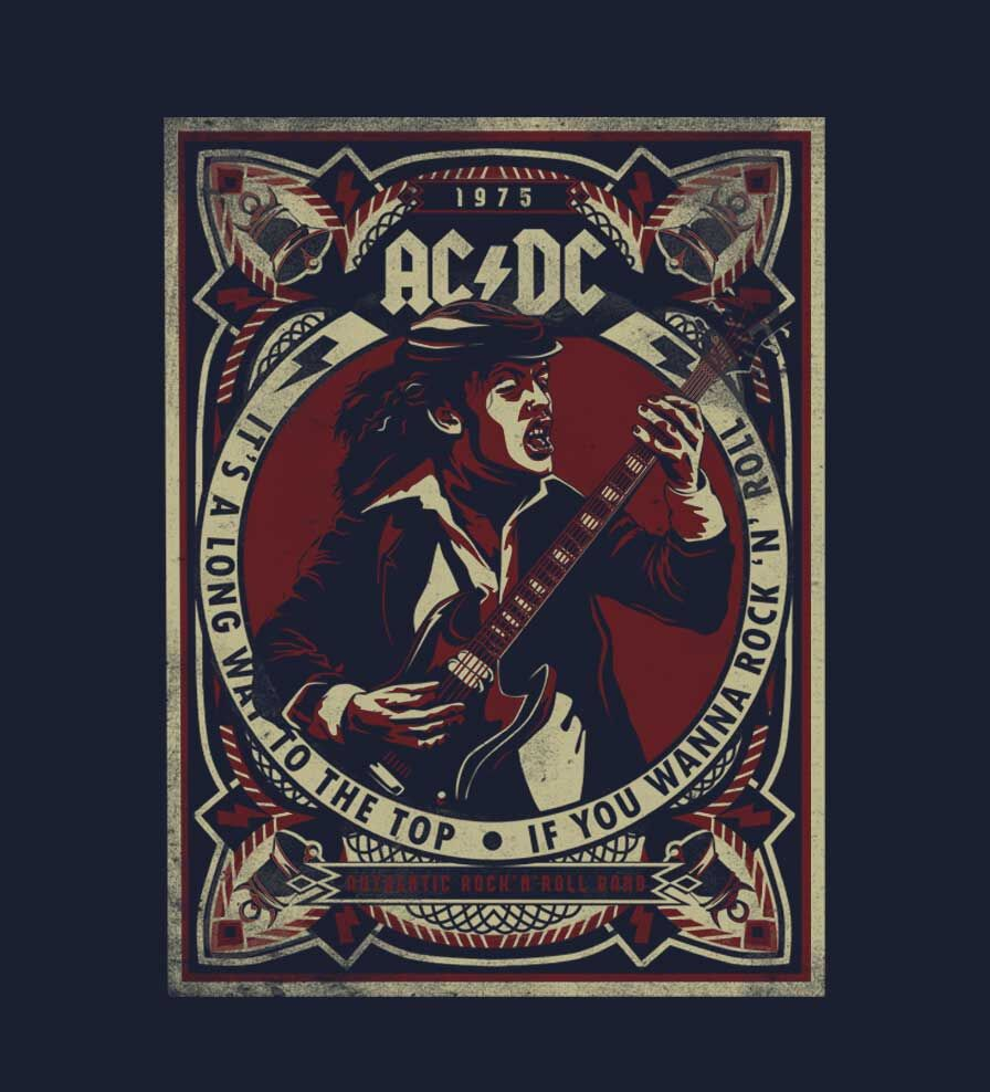 Camiseta - Its A Long Way To The Top - ACDC - Masculino
