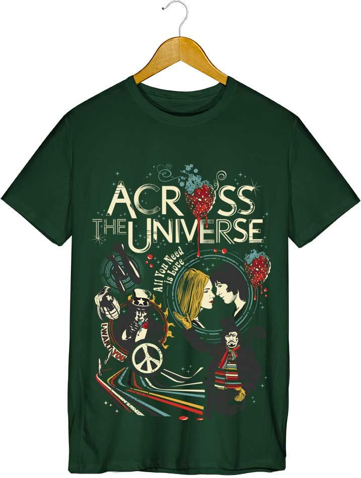 Camiseta - Across The Universe - Masculino