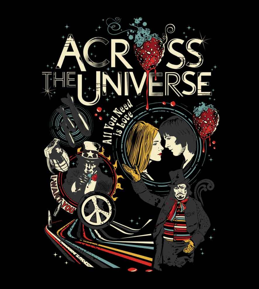 Camiseta - Across The Universe - Masculino