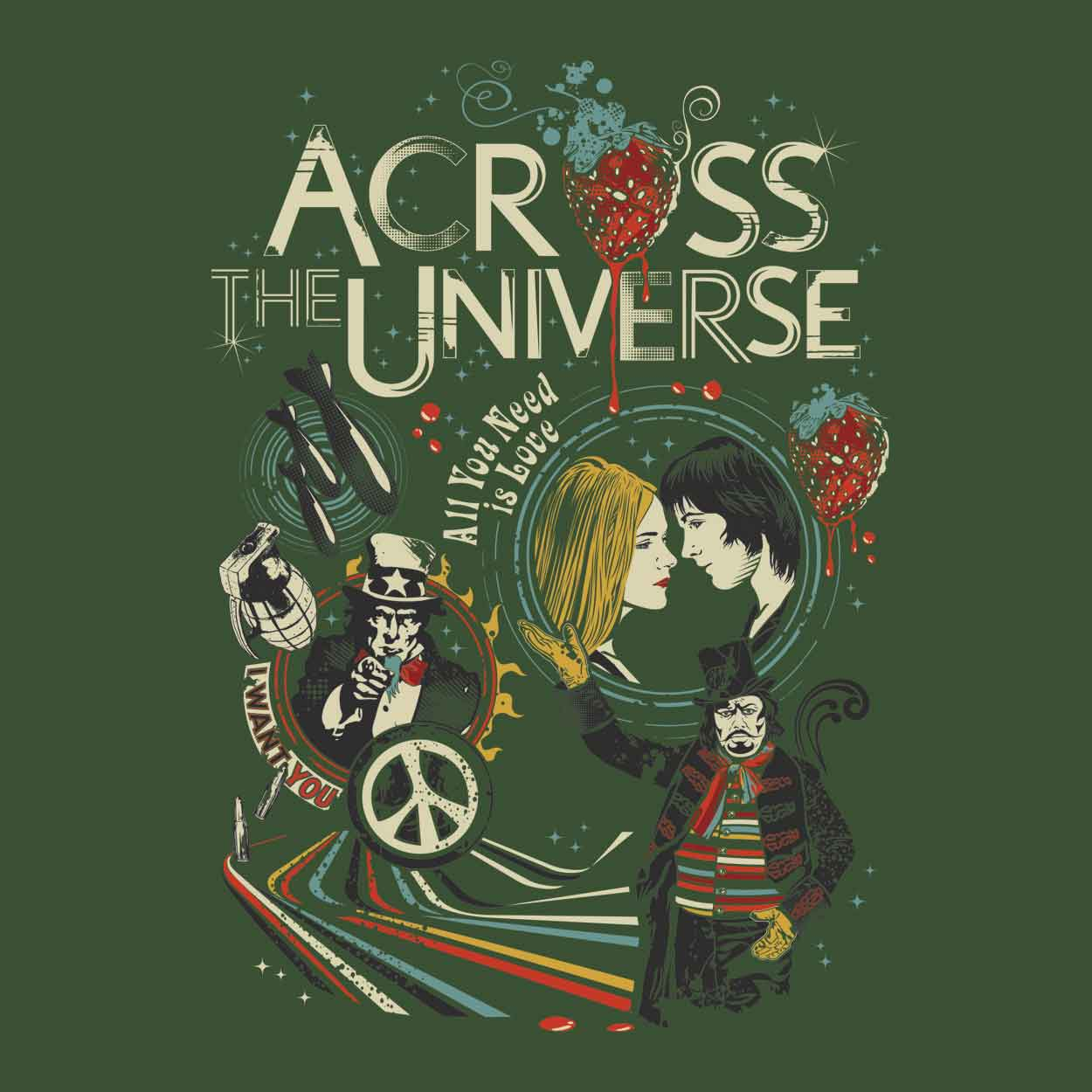 Camiseta Across The Universe - Masculino