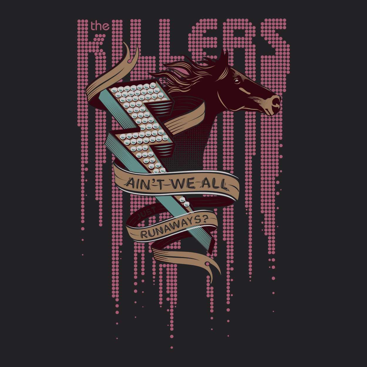 Camiseta Ain't We All Just Runaway - The Killers- Infantil