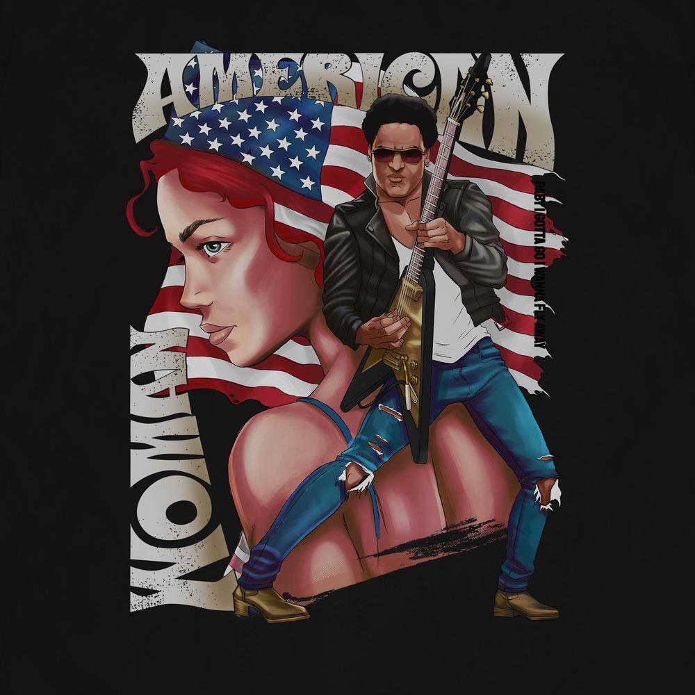 Camiseta American Woman - Lenny Kravitz - Masculino