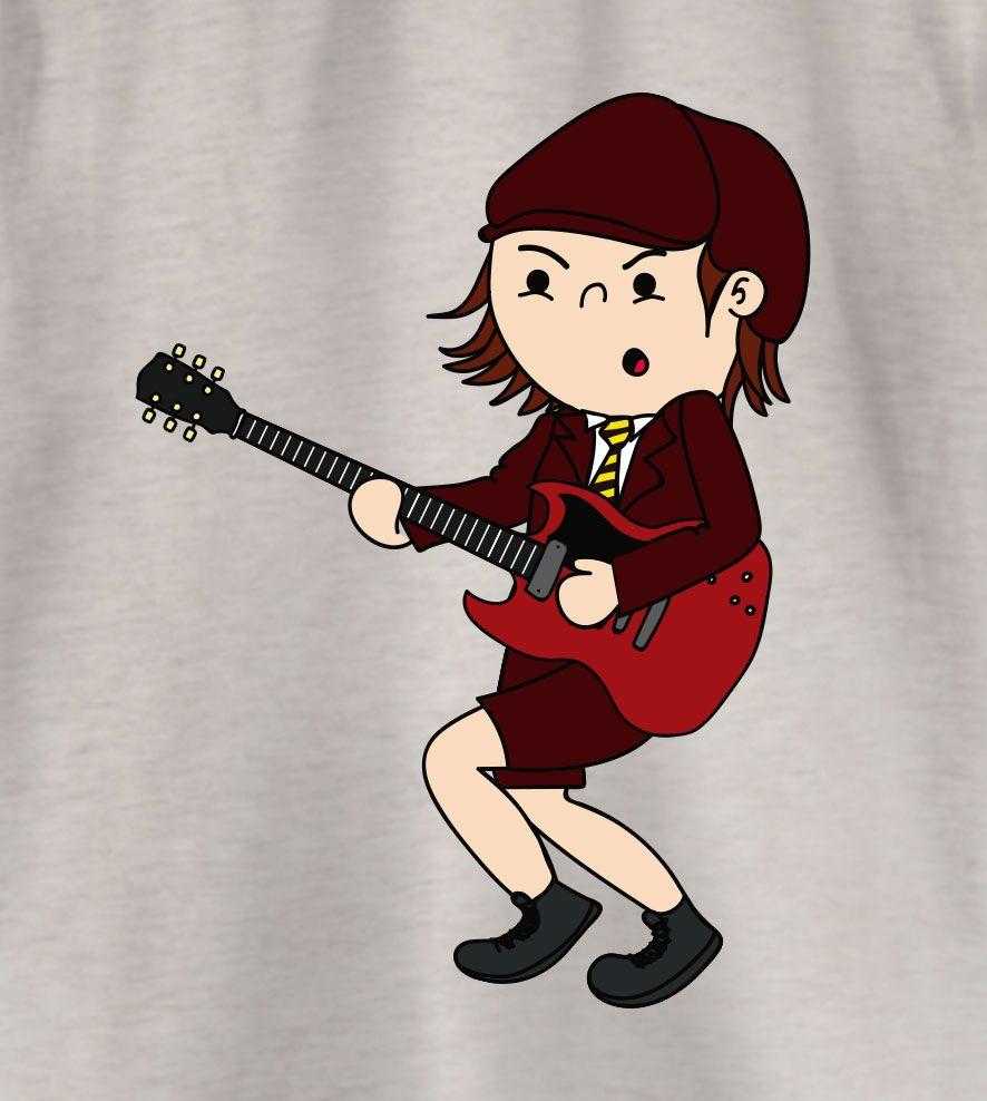 Camiseta - Angus McKinnon - ACDC - Feminino