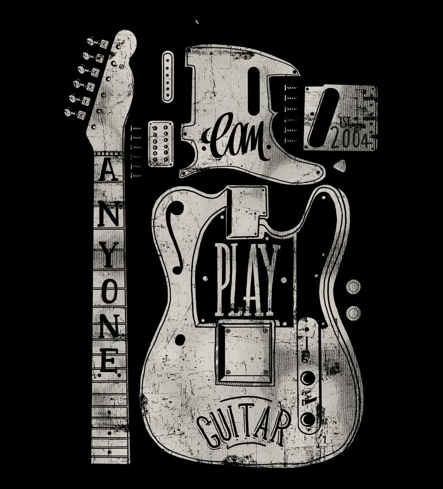 Camiseta - Anyone Can Play Guitar - Infantil
