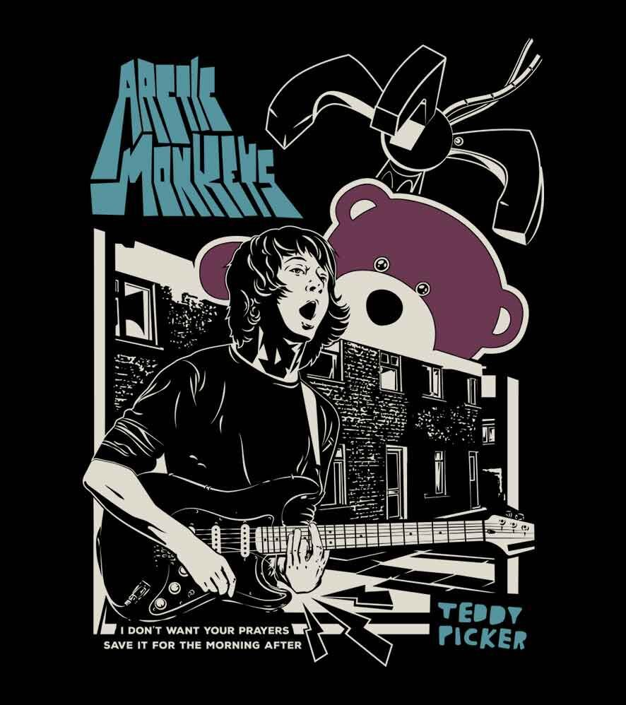 Camiseta - Ted Picker - Arctic Monkeys - Feminino