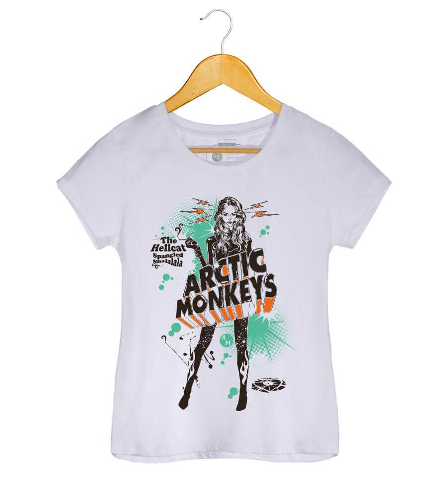 Camiseta - The Hellcat Spangled  - Arctic Monkeys - Feminino